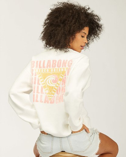0 Beach Escape Crew Neck Sweatshirt White ABJSF00165 Billabong