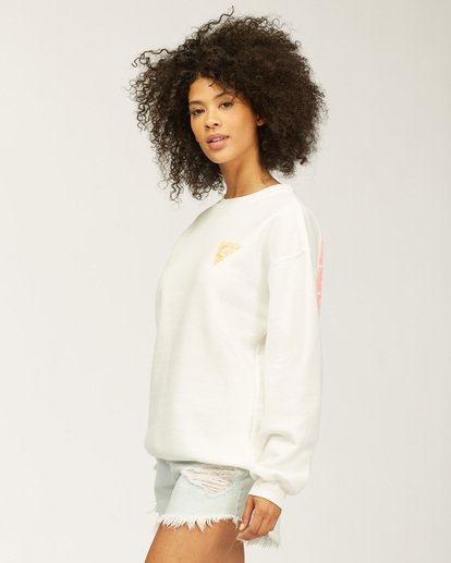 1 Beach Escape Crew Neck Sweatshirt White ABJSF00165 Billabong