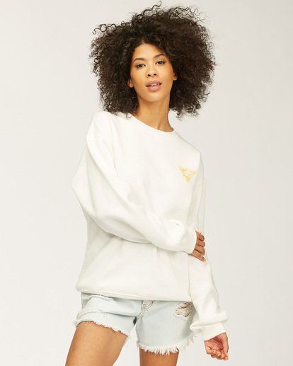 2 Beach Escape Crew Neck Sweatshirt White ABJSF00165 Billabong