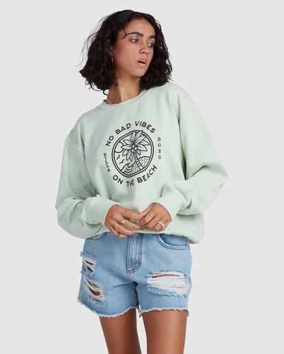 3 Palm Vibes Sweatshirt Green ABJSF00211 Billabong