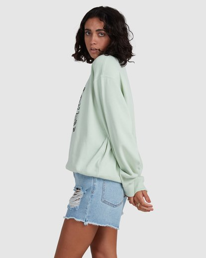 1 Palm Vibes Sweatshirt Green ABJSF00211 Billabong
