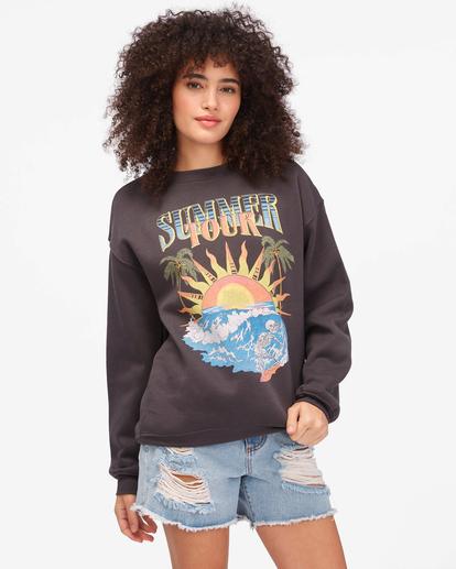 1 Summer Tour Crewneck Sweatshirt Black ABJSF00267 Billabong