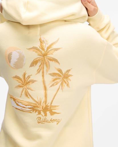 3 Sunny Palms Hoodie Yellow ABJSF00322 Billabong