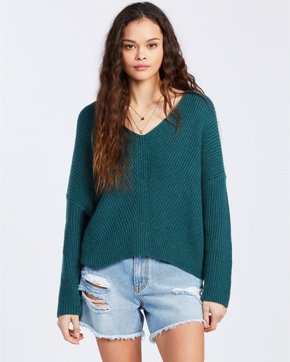 1 Its Me Sweater Green ABJSW00103 Billabong