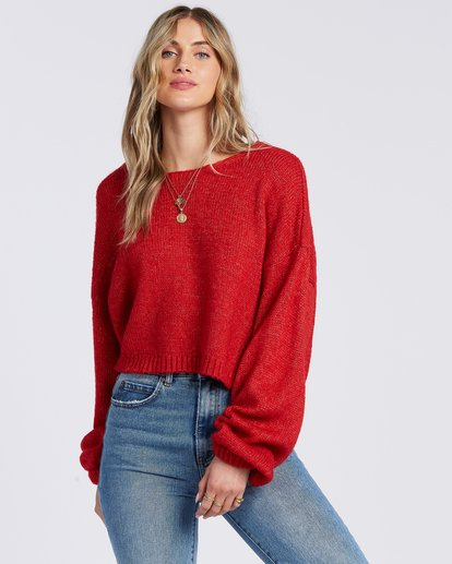 0 Heart To Heart Sweater Red ABJSW00110 Billabong