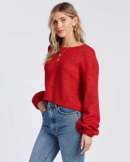 2 Heart To Heart Sweater Red ABJSW00110 Billabong