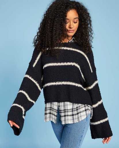 0 Lined Up Sweater Black ABJSW00111 Billabong