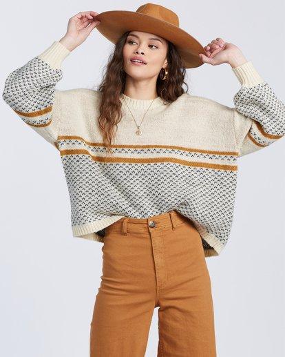 3 Wise Up Sweater White ABJSW00129 Billabong