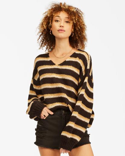 1 Laid Back Deep-V Sweater Black ABJSW00134 Billabong