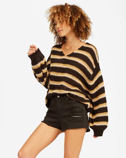 2 Laid Back Deep-V Sweater Black ABJSW00134 Billabong