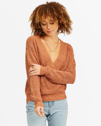 0 Bring It Cross-Wrap Sweater Brown ABJSW00135 Billabong