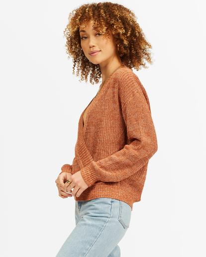 1 Bring It Cross-Wrap Sweater Brown ABJSW00135 Billabong