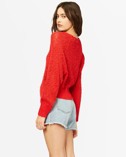 2 Sundown Relaxed Crewneck Sweater Red ABJSW00151 Billabong