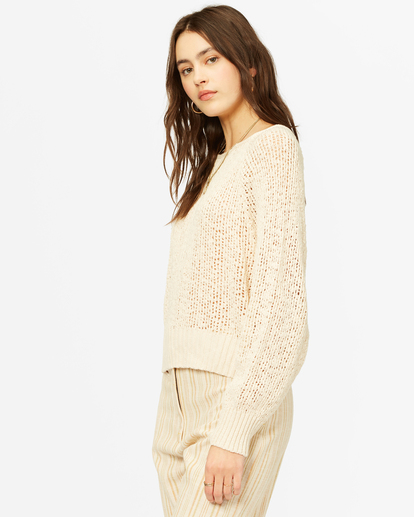 1 Sundown Relaxed Crewneck Sweater White ABJSW00151 Billabong