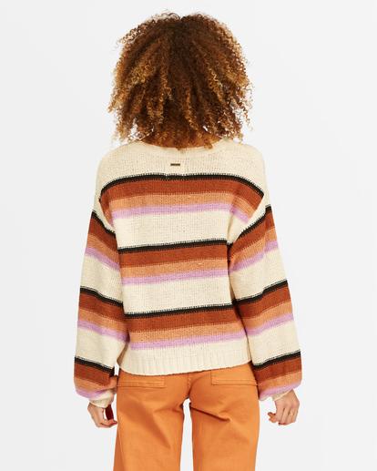 2 Seeing Double Crop Crewneck Sweater Multicolor ABJSW00152 Billabong