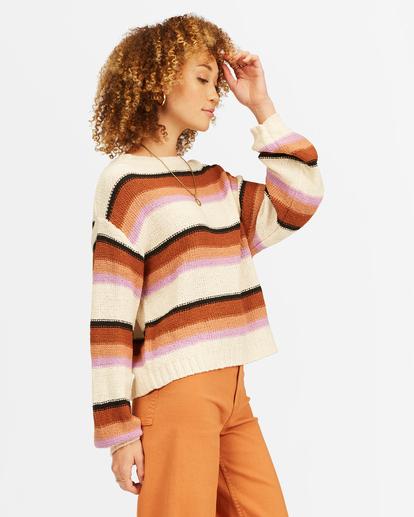 1 Seeing Double Crop Crewneck Sweater Multicolor ABJSW00152 Billabong