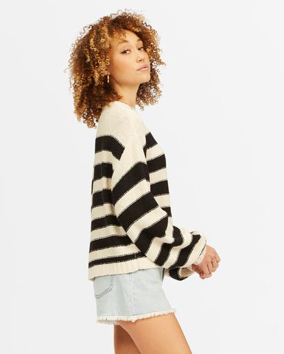 1 Seeing Double Crop Crewneck Sweater Black ABJSW00152 Billabong