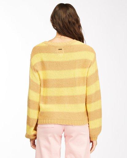 3 Seeing Double Crop Crewneck Sweater Yellow ABJSW00152 Billabong