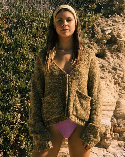 0 Catch Up Cardigan Sweater Green ABJSW00160 Billabong