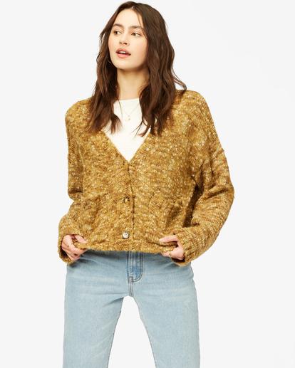 2 Catch Up Cardigan Sweater Green ABJSW00160 Billabong