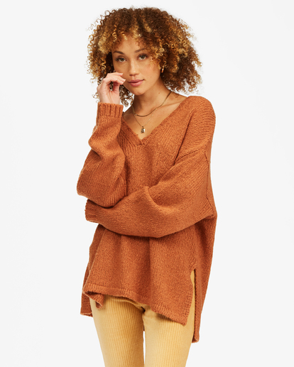 0 Tuned In Tunic Sweater Brown ABJSW00162 Billabong