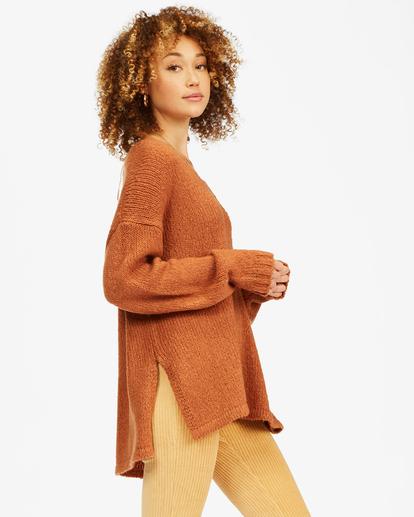1 Tuned In Tunic Sweater Brown ABJSW00162 Billabong