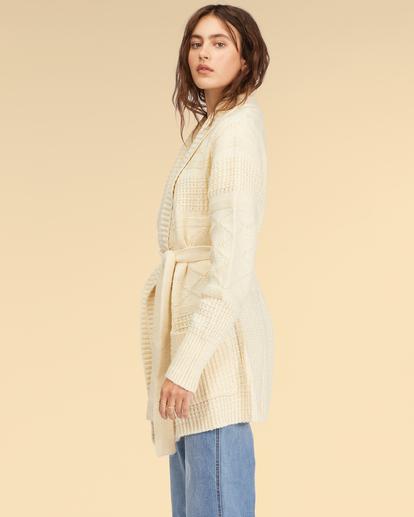 1 Wrangler Wrangled Up Sweater White ABJSW00170 Billabong