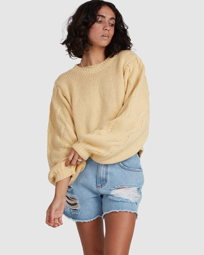 1 Honey Dew Sweater Yellow ABJSW00182 Billabong