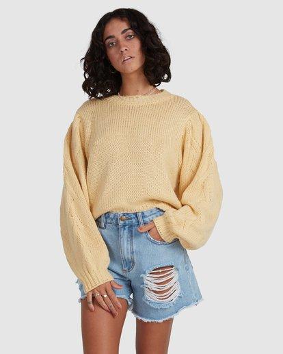 4 Honey Dew Sweater Yellow ABJSW00182 Billabong
