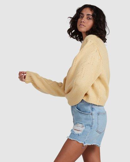 2 Honey Dew Sweater Yellow ABJSW00182 Billabong