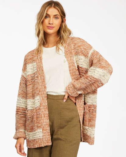 1 So Cozy Cardigan Sweater Brown ABJSW00192 Billabong