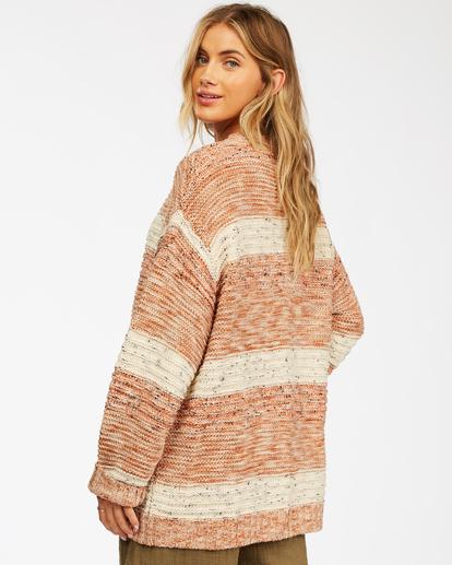 2 So Cozy Cardigan Sweater Brown ABJSW00192 Billabong