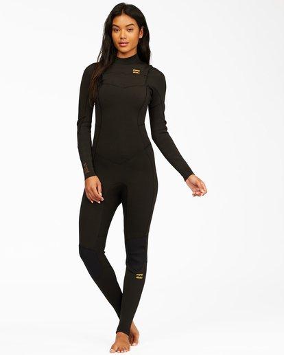 0 4/3 Synergy Chest Zip Full Wetsuit Black ABJW100130 Billabong