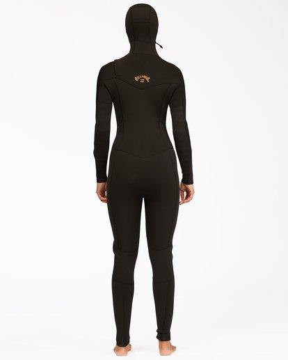 1 5/4 Synergy Hooded Chest Zip Full Wetsuit Black ABJW200100 Billabong