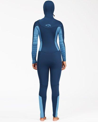 1 5/4 Synergy Hooded Chest Zip Full Wetsuit Multicolor ABJW200100 Billabong