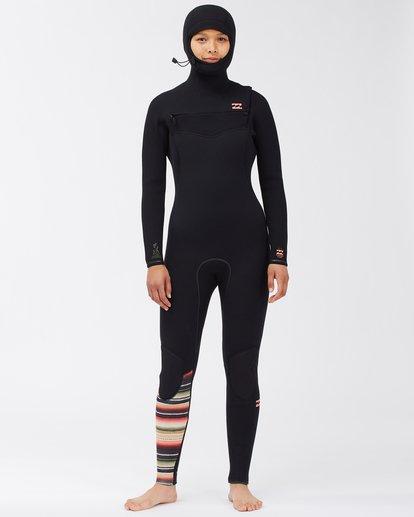 0 5/4 Women's Furnace Comp Series Hooded Full Wetsuit Orange ABJW200102 Billabong