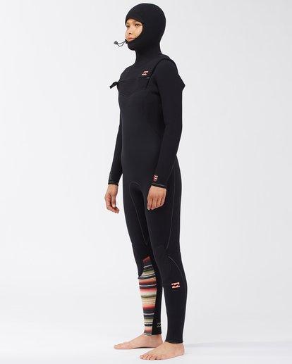 2 5/4 Women's Furnace Comp Series Hooded Full Wetsuit Orange ABJW200102 Billabong