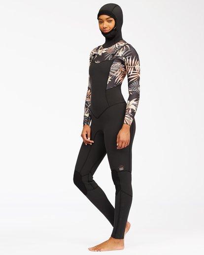 2 4/3 Salty Dayz Hooded Full Wetsuit Black ABJW200103 Billabong