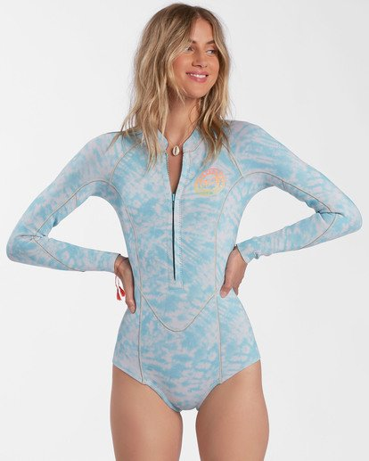 1 2mm Salty Dayz Long Sleeve Spring Wetsuit Blue ABJW400100 Billabong
