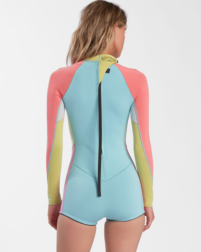 3 2mm Spring Fever Long Sleeve Spring Wetsuit Blue ABJW400101 Billabong