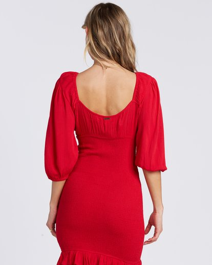 3 Amalfi Nights Dress Red ABJWD00122 Billabong