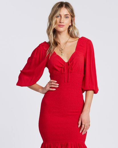 1 Amalfi Nights Dress Red ABJWD00122 Billabong