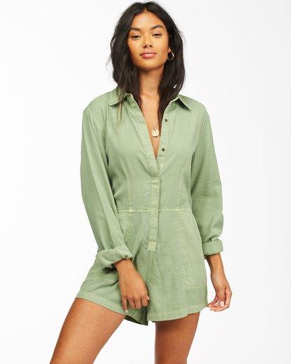 1 Gigi Playsuit Jumpsuit Green ABJWD00135 Billabong