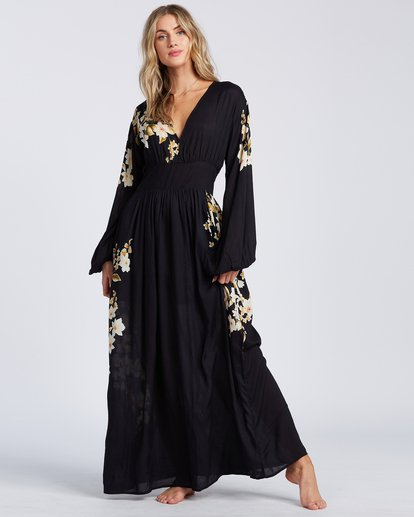 2 Night Bloom Dress Black ABJWD00151 Billabong