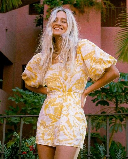 0 Hello Sun Mini Dress Yellow ABJWD00156 Billabong