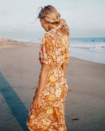 1 Salty Blonde Hello There Dress Brown ABJWD00186 Billabong