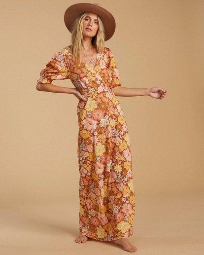 2 Salty Blonde Hello There Dress Brown ABJWD00186 Billabong