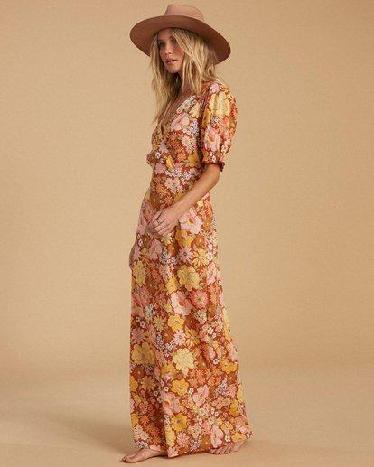 3 Salty Blonde Hello There Dress Brown ABJWD00186 Billabong