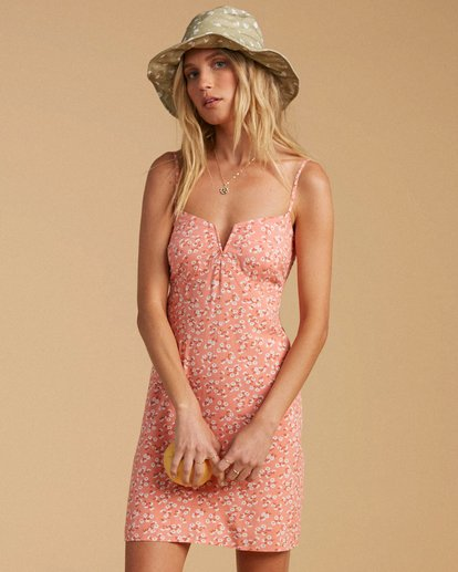 0 Salty Blonde Just Because Woven Mini Dress Black ABJWD00190 Billabong