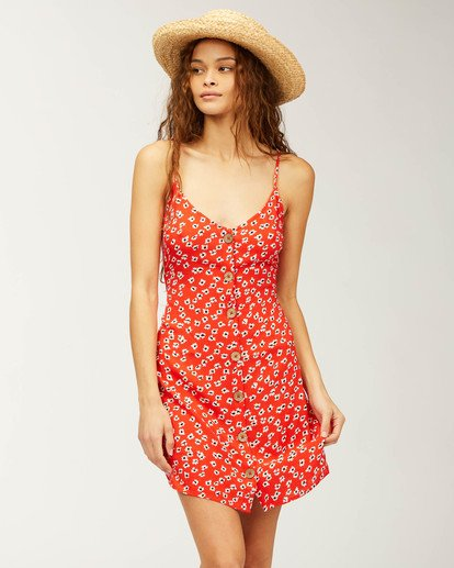 0 Sweet For Ya Dress Red ABJWD00205 Billabong